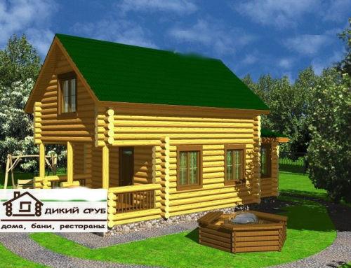 Дом для семьи из дикого сруба (проект 91)
