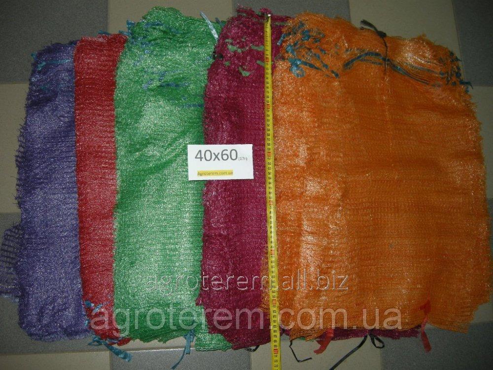 Сетка овощная (сетчатый мешок) 40х60 (до 20кг) красная (100 шт)