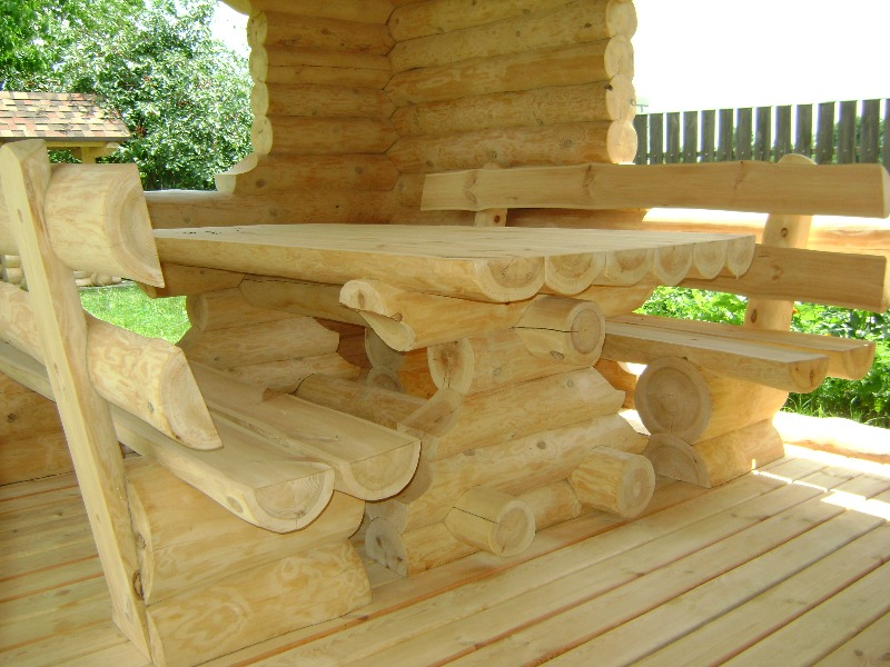 Furniture made of log
