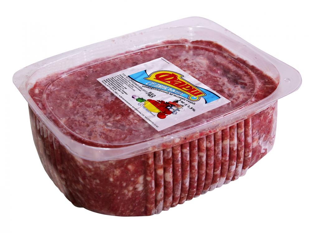 Фарш свино-говяжий Селянский  - лоток 1 кг
