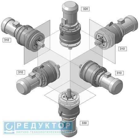 Планетарный мотор-редуктор 3МПМ на фланце