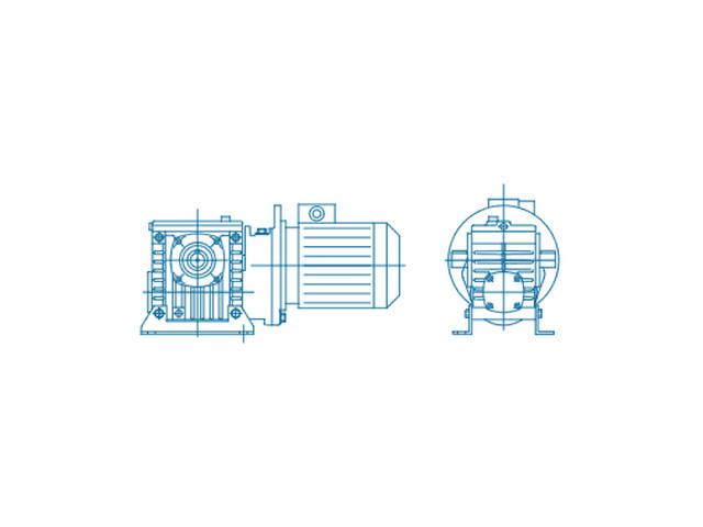 Цилиндро-червячный двухступенчатый мотор-редукторы