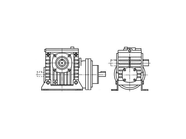 Мотор-редуктор  планетарно-червячный