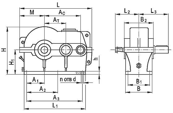 Редуктор цилиндрический двухступенчатый типа РЦД, РЦД-М