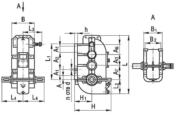 Редуктор вертикальный крановый трехступенчатый типа ВК, ВК-М