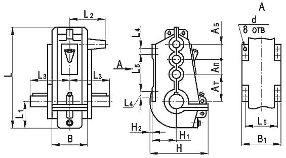 Купить Редуктор вертикальный крановый трехступенчатый типа ВКУ, ВКУ-М