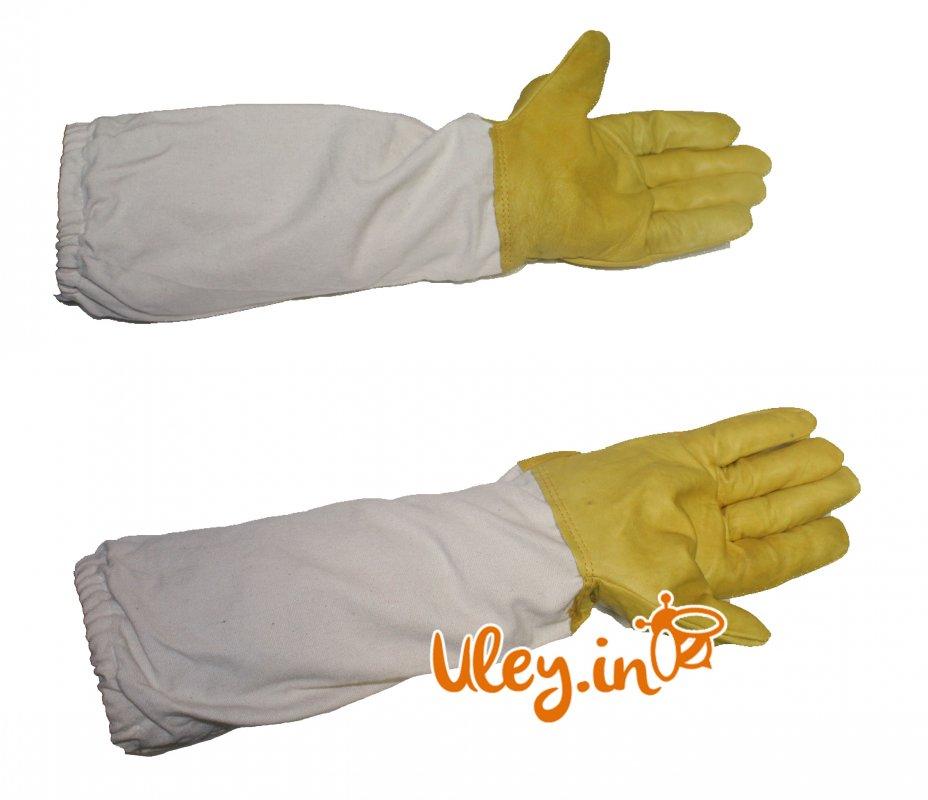 Купить Перчатки КОЖАНЫЕ Большой размер XXL с нарукавниками (Польша)