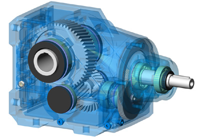 Мотор-редуктор коническо-цилиндрический 5KЦ1-ES, 5KЦ2-ES, 5KЦ3-ES