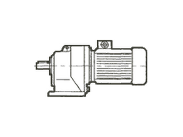 Мотор-редуктор цилиндрический двухступенчатый соосный