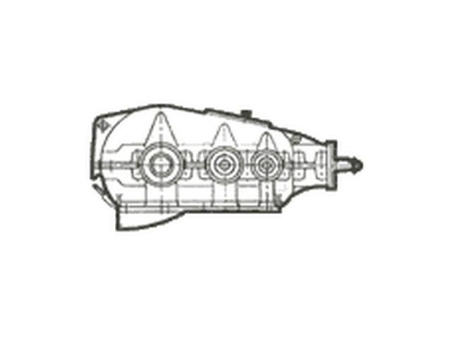 Редуктор коническо-цилиндрический горизонтальный двух- и трехступенчатый