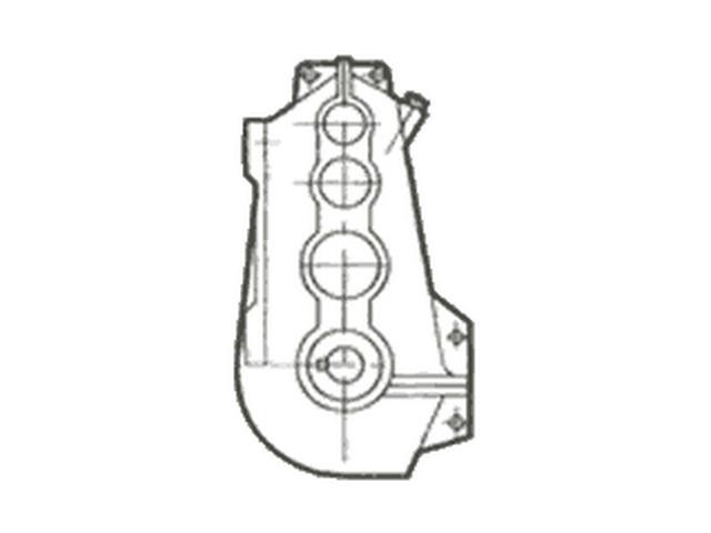 Редуктор цилиндрический вертикальный крановый двух- и трехступенчатый