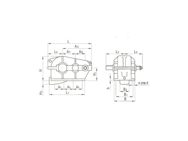 Редукторы цилиндрические горизонтальные трехступенчатые типа Ц2, Ц2-М