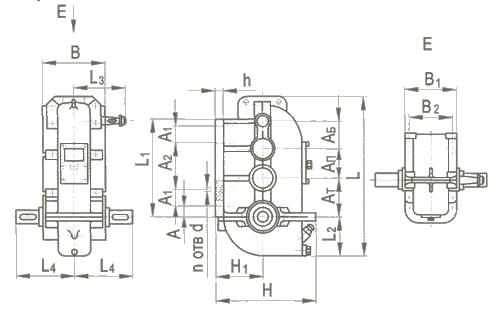 Редуктор вертикальный крановой трехступенчатый типа ВК, ВК-М