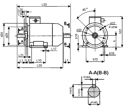 Motores assincrónicos com três fases com potência superior de 1 kW
