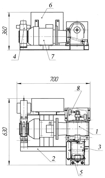 Лебедка электрическая ЛЭЧ–0,16-10