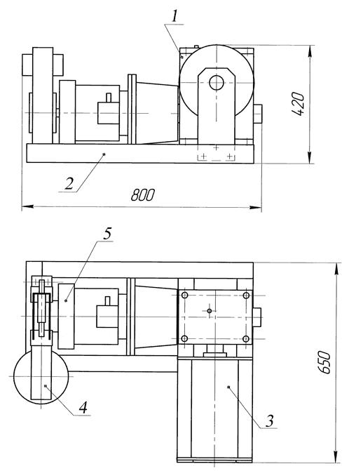 Лебедка электрическая ЛЭЧ-0,2-250