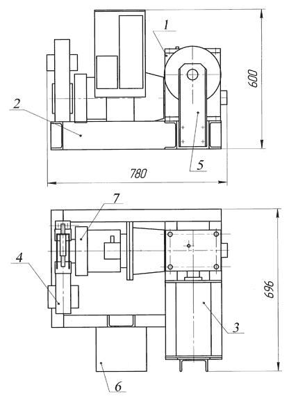 Лебедка электрическая ЛЭЧ–0,3–200
