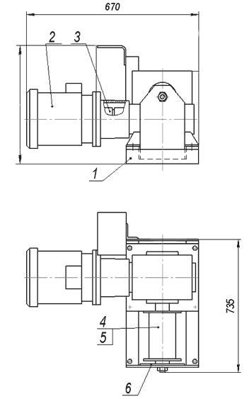 Лебедка электрическая ЛЭЧ–0,36–30