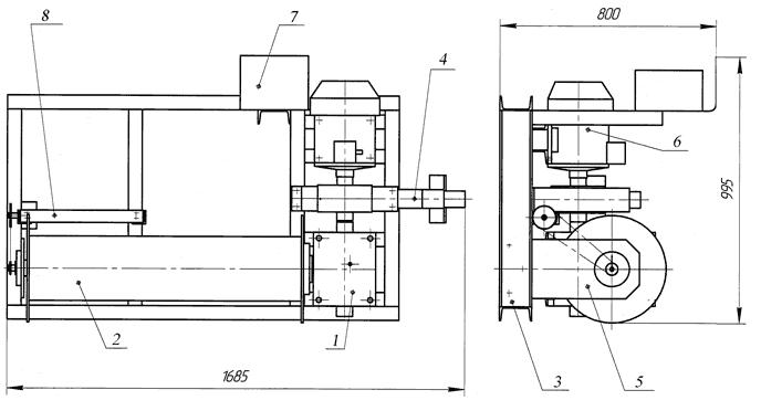 Лебедка электрическая ЛЭЧ–0,5–220