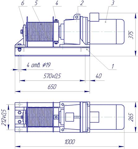 Лебедка электрическая ЛЭП–0,75