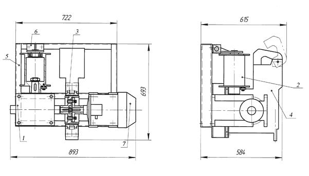 Лебедка электрическая ЛЭЧ–0,85–9