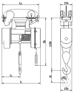 Таль электрическая канатная передвижная 2,0 т ТЭ-2