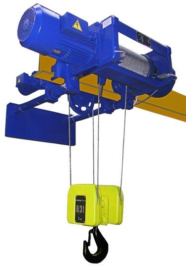 Таль электрическая электротельфер МТ с тележкой для уменьшенной строительной высоты с полиспастом 4/1