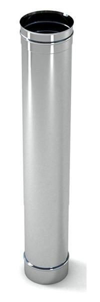 Buy Stainless steel chimney pipe-shell (0.6 mm) L = 1.0 m Ø 100