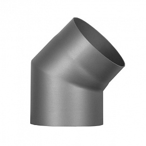 Купить Колено 45° Ø180 мм из черной стали
