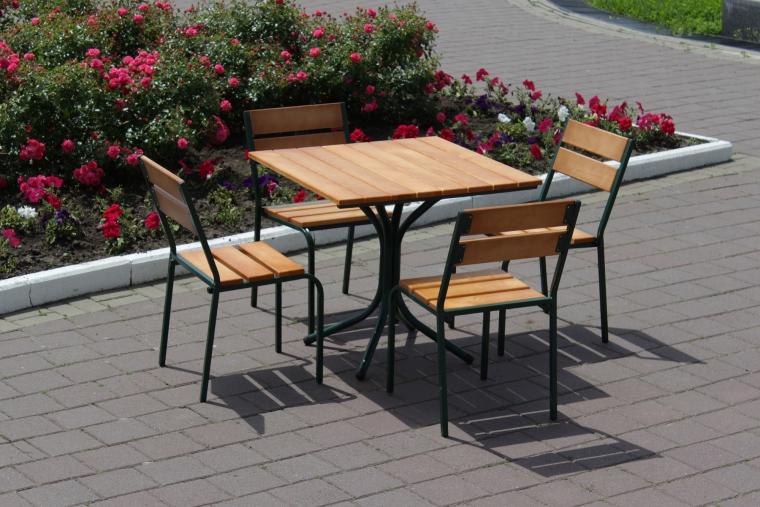 Комплект мебели Классический зеленый, песочный