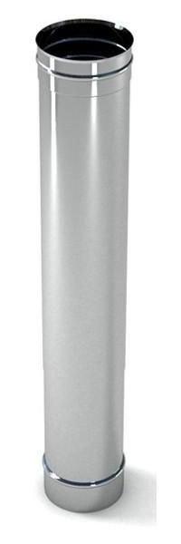 Купить Труба дымоходная с нержавеющей стали одностенная (1.0мм) L=0.5м Ø100