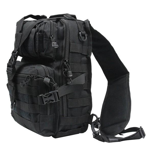 Сумка через плечо тактическая малая black TGBP028-black