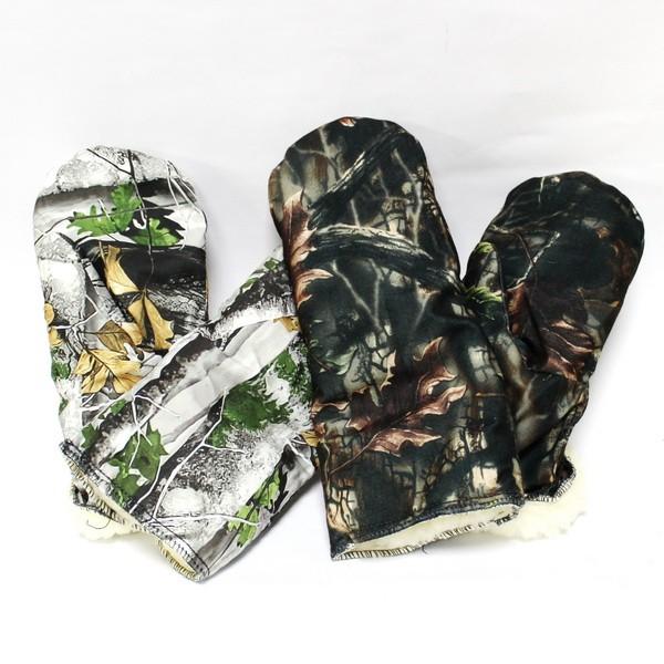 Рукавицы с варежкой на меху охотничий камуфляж 10002325