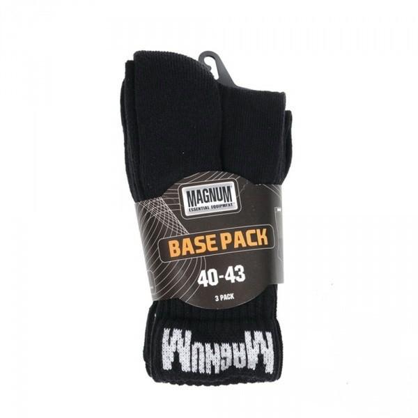Comprar Los calcetines Magnum Base Pack los 3 vapores negros 10002261