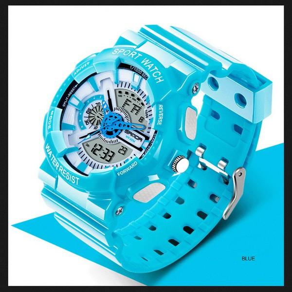 Buy Hours sports Sanda Powerful WR 30 m turquoise TGTW-05-blue-white