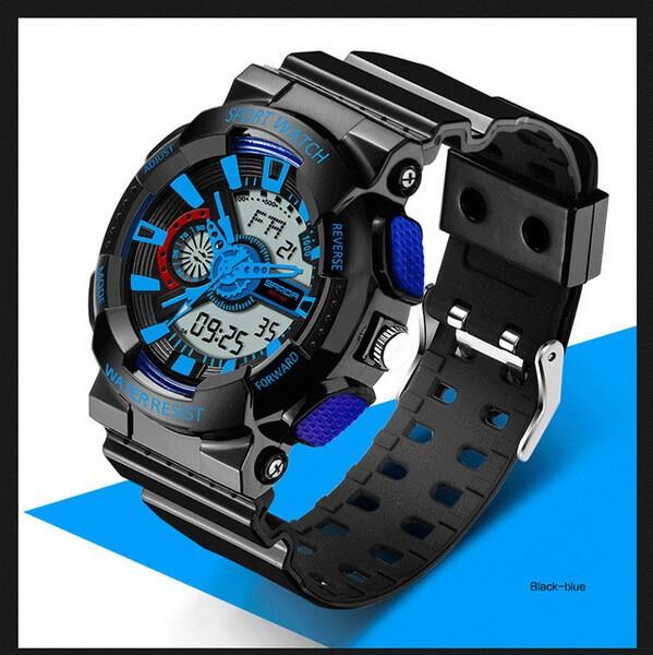 Часы спортивные Sanda Powerful Water Resistant 30 m blue TGTW-05-blue