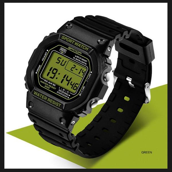 Часы спортивные Sanda Challenge Water Resistant 30 m олива TGTW-06-olive