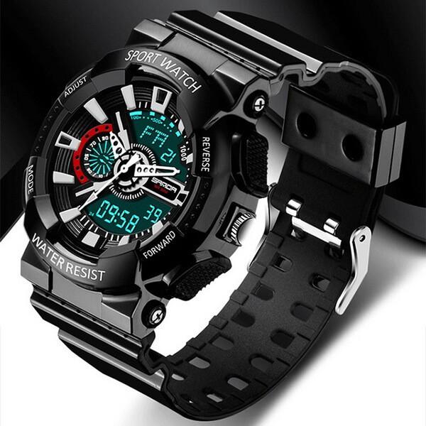 Часы спортивные Sanda Powerful Water Resistant 30 m black TGTW-05-black