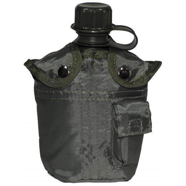 Фляга в чехле MFH 1 литр olive 33213b