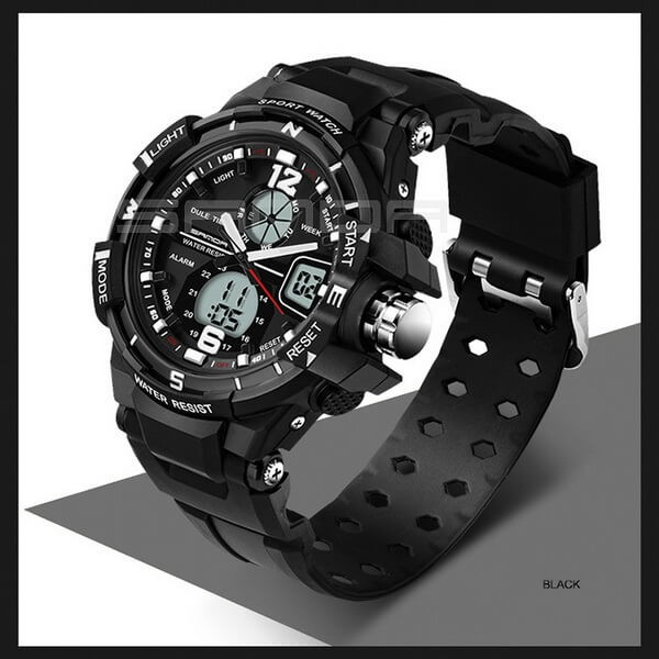 Часы спортивные Sanda 30 m WR Black TGTW-03-black