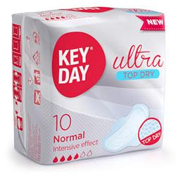 "Sanitary pads with wings ultra-feminine ""KEY DAY ultra soft night 6"""