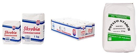 Buy TRZEMESZNO potato starch of 1 kg paper package