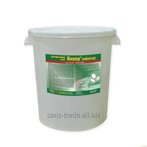 """Means for disinfection of baths of """"Winchlore (tablet)"""