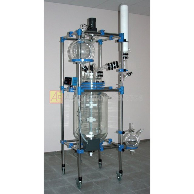 Buy Glass reactor (laboratory) 100L jacketed