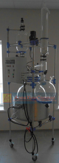 Buy Glass reactor (laboratory) 100L jacketed and thermostat