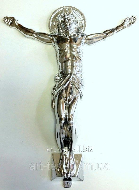 Распятие православное большое металлизированное серебро