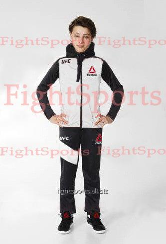 1def4c9d Детский спортивный костюм UFC REEBOK Kids WHITE - логотипы ВЫШИТЫЕ ...