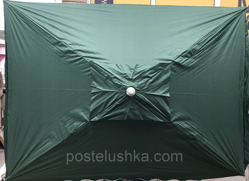 Buy Umbrella for a garden, the beach of round 2x3 m with the valve, with protective corners, with a silver dusting of color in assortmen