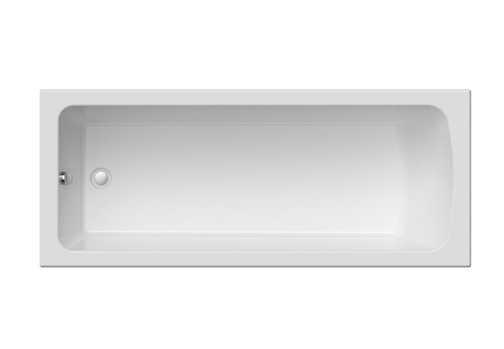 Buy Rectangular acrylic bathtub of VIOLA of 170x70 cm