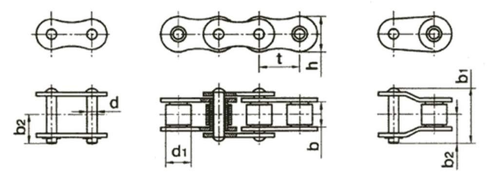 Цепь приводная роликовая и втулочная ГОСТ 13568-75